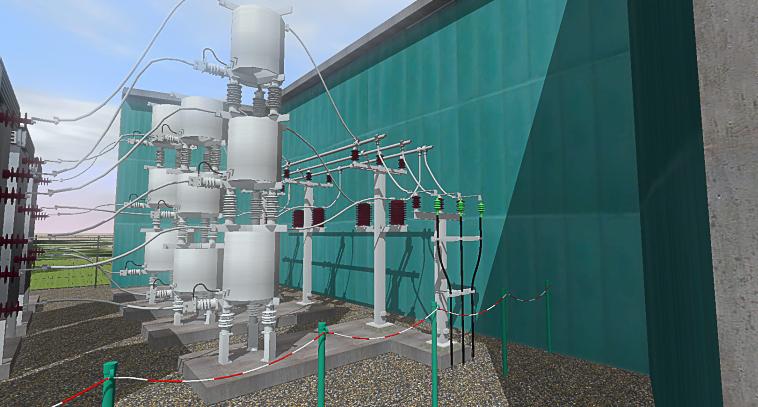 3D-Anlage_Mittelspannung_Freiluft_3D-Projekt