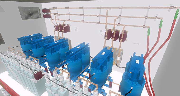 3D-Anlage_Mittelspannung_Station_3D-Projekt
