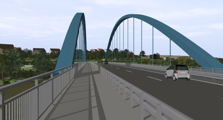 3D_Straßenplanung_Regnitzbrücke_Bauwerk
