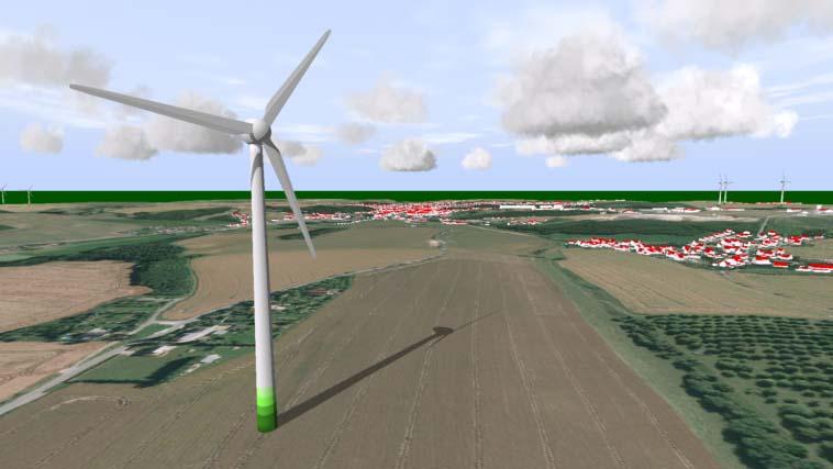 Windkraftanlage-3D-Simulation-Schattensimulation