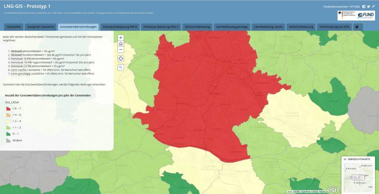 Der Aufbau eines LNG -Tankstellennetzes: Online-Plattform auf Basis von Geoinformationssystemen (GIS)