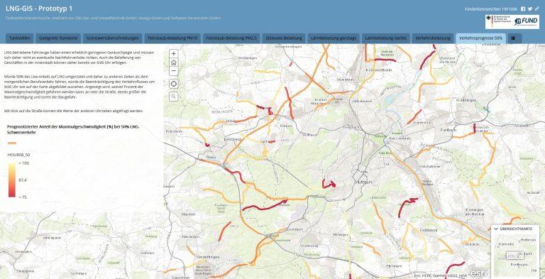 GIS-Online-Plattform für den Aufbau einer Flüssigerdgasinfrastruktur – LNG-GIS