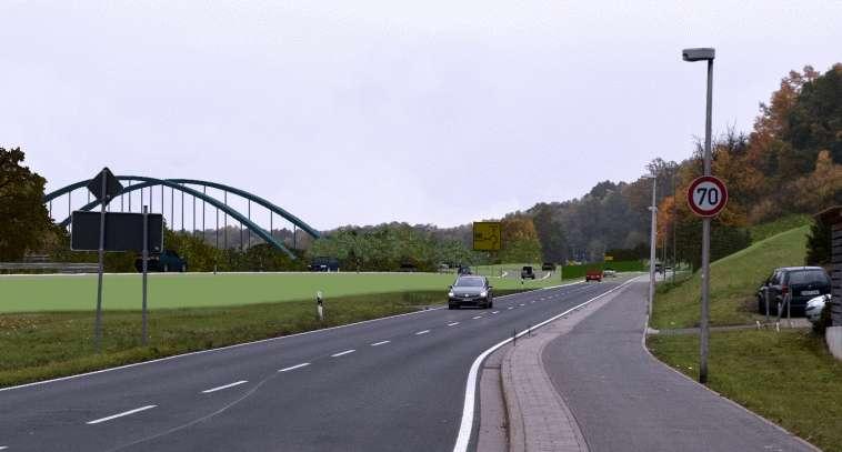 Komplexe 3D Straßenplanung: Fotomontage