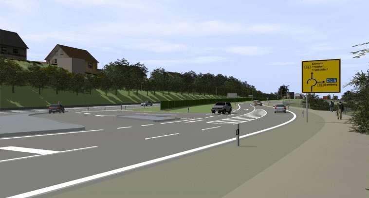 Planung einer Ortsumgehung (mit freundlicher Genehmigung des Straßenbauamtes Bamberg)
