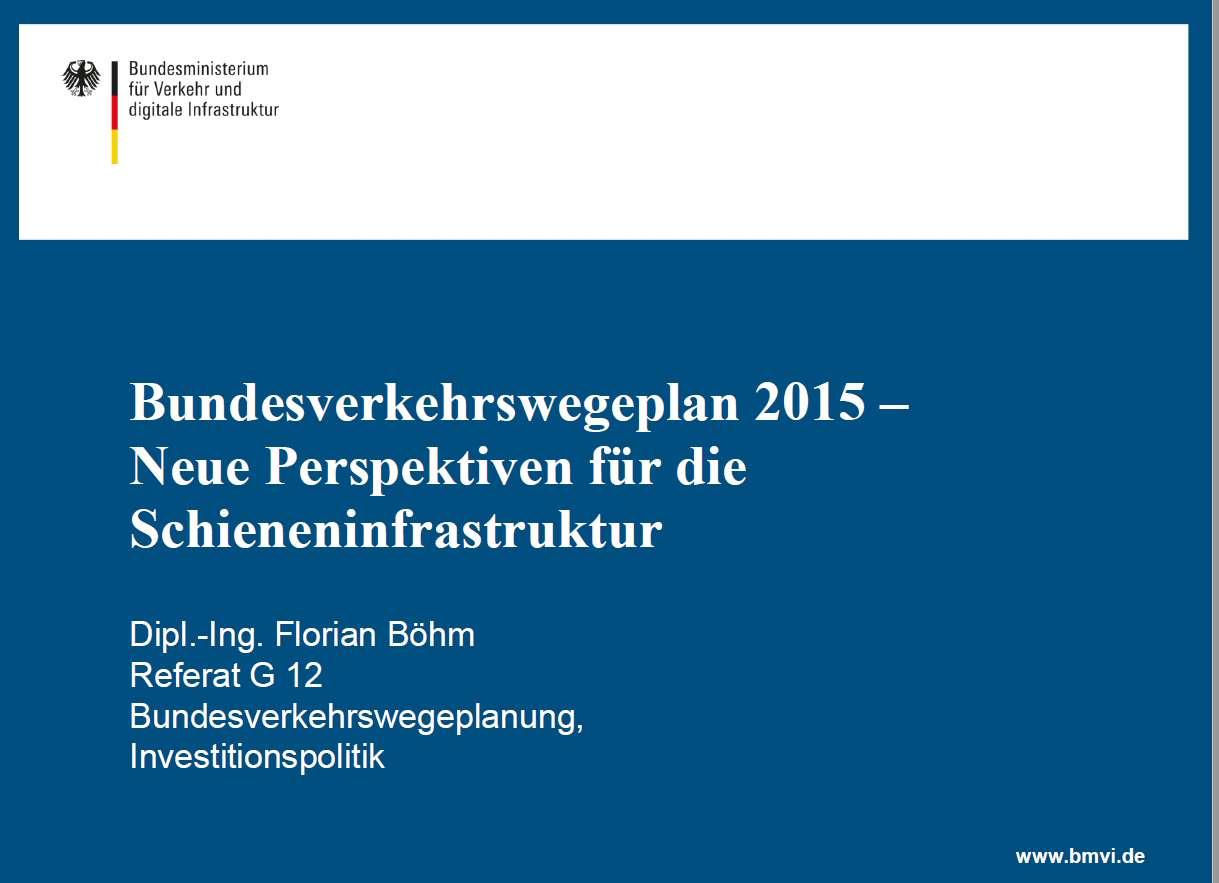 Bundesverkehrswegeplan, Deutschland