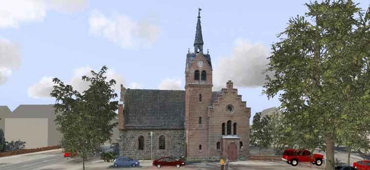3D Visualisierung von Laserscandaten: Kirche
