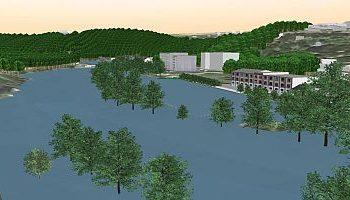 Animation von ansteigendem Wasser - Hochwassersimulationen