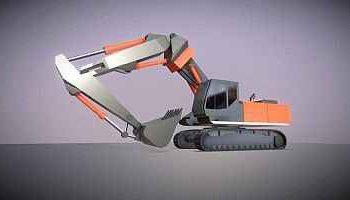 3D-Modell Baufahrzeug