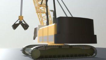 Detaillierte 3D-Modelle von Baufahrzeug