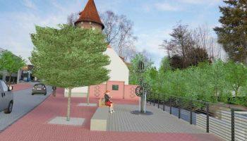 Fotoeinpassung der Planung des Mühlenareals in Borken (mit freundlicher Genehmigung der Stadt Borken)