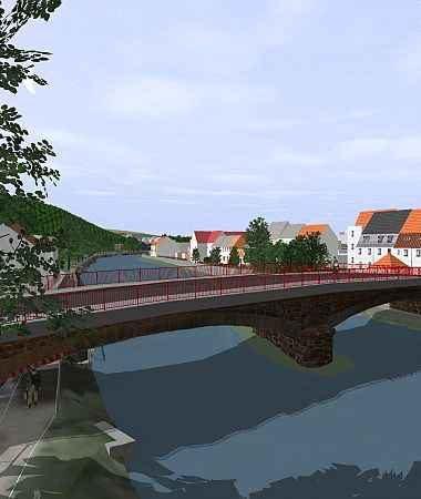 Interactive 3D-Visualisierung der Hochwasserschutzmaßnahme