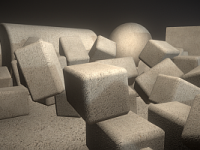 3D Materialien und Texturen: Exposed-aggregate-concrete