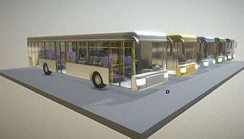 Online-Bibliothek für 3D-Modelle Fahrzeuge: Stadtbus