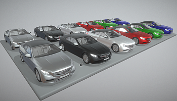 3D mercedes-benz models for download