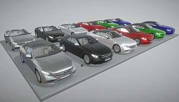 3D mercedes-benz models for download
