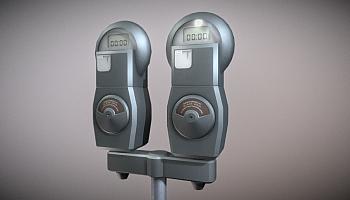 Online-Bibliothek für 3D-Modelle: Parkuhr