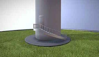 Hochdetailliertes 3D-Modell: WKA -Eingang mit Animation